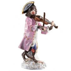 Meissen Monkey Band - Figurine of a Violinist